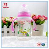 Bottiglia per il latte del bambino di plastica largo del collo dalle 8 once con le maniglie