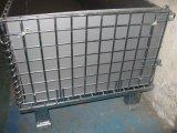 O armazenamento galvanizou a pálete de empilhamento dobrável dobrada do engranzamento de fio
