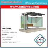 Cobertizo público de los muebles de calle del buen diseño que hace publicidad del panel