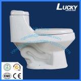 Mercadorias sanitários Toliets da cinta branca um toalete de Siphonic da parte para o mercado americano