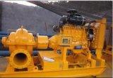 Bomba de agua partida de la cubierta de la succión doble del motor de Disel