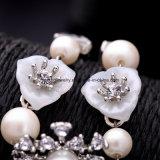 De nieuwe Armband van de Charme van de Diamant van het Kristal van de Parel van de Juwelen van de Manier Luxueuze Elegante