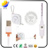 Universalität 2 in 1 Mikro-Anzeige-aufladennetzkabel des USB-Stretchable Kabel-BMI mit 1m langem Netzanschlusskabel für Android und iPhone