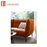 Sofá profundo de lujo del color del color rojo del estilo para la sala de estar