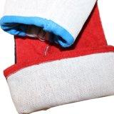 14 '' guantes a prueba de calor rojos de la mano de la soldadura del trabajo del cuero de la seguridad