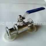 1000wog extremo sanitario manual de la abrazadera de la vávula de bola del acero inoxidable CF8/CF8m/304L/316L