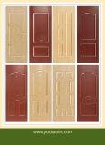 El panel rojo grabado HDF del molde de la cereza de la melamina para la piel de la puerta