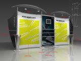 Soporte de visualización publicitario de aluminio del braguero de la exposición para la feria profesional