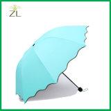 الصين بالجملة موقعات رخيصة صنع وفقا لطلب الزّبون علامة تجاريّة سحريّة ماء ينشّط لون يغيّر مظلة يطوي [هيغقوليتي] يدويّة