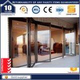 Precios de aluminio de cristal del anuncio publicitario de la puerta de plegamiento de la entrada