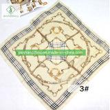 Madame 100% en soie Scarf Chain Printed Shawl de femmes de mode de 90*90cm