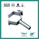 Support sanitaire de pipe d'hexagone d'acier inoxydable de garnitures de pipe