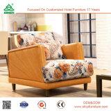 Europäischer Art-Sofa-Stuhl-einzelnes Sofa mit festes Holz-Bein-Wohnzimmer-Möbel-Einzelsitz-Sofa