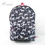 Nylon Dog Pattern Kid Back to School Rucksack