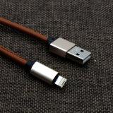 3.3 pies de 5V 2A de cuero de la PU cubrieron el cable del teléfono de 8 Pin para el teléfono de Samsung