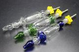 10mm/14mm rauchendes Wasser-Glasrohr mit Quarz-Nägeln