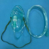 병원 관 (녹색)를 가진 호흡 배려 제품 의무보급 산소 마스크