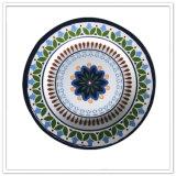 Placas de jantar materiais da vária melamina elegante do projeto do estilo