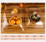 Cubierta plástica de acrílico de la visualización del alimento de la torta de Retangular