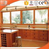 Ventana de deslizamiento sólida hermosa de madera de pino para su cocina/comedor, ventana abierta del metal del marco del artículo