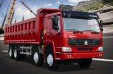 carro de volquete del vaciado de Sinotruk HOWO 8X4 del camión de descargador 22.4cbm 371HP, casilla larga de Euroii