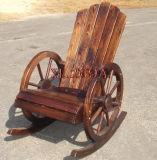 焼き付けられたヒマラヤスギのテラスのロッキングチェアの屋外の余暇の椅子