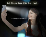 iPhone 5 iPhone 6 Luminous Phone Cover Case를 위한 중국 Wholesale Luxury Cell Phone Case LED Selfie Light Phone Case