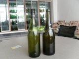 750ml bernsteinfarbige und dunkelgrüne Burgunder-Glasflasche
