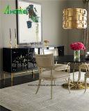 Europäischer Schlafzimmer-Möbel-Antike-Schwarz-Eitelkeits-Schrank mit Spiegel für Verkauf