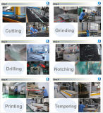 2017년 Shandong 공장 3mm 강화 유리 M2 가격