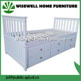 Bâti de jour de meubles de chambre à coucher avec le tiroir en bois de pin