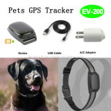 Réel GPS Time Tracking Animaux Tracker avec collier (EV-200)