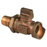 Ball Bronze Valve per Water Meter