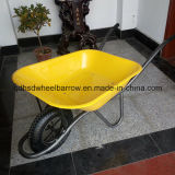 Hot Sale를 위한 Strong Tube Legs Wheelbarrow Hsd-2를 가진 노란 Stainless Steel Tray