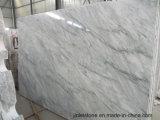 カウンタートップの床の壁のタイルの平板のための白い水晶石の大理石