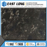 Black Marble Color Artificial Quartz Stone Slabs / Quartz Stone Countertop Superfície sólida