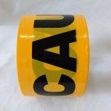 Glue/PE 경고 테이프 없는 Wraning 까맣고와 노란 인쇄 테이프