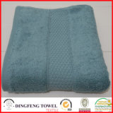 2016 Sales quente Organic 100% Cotton Thick Jacquard Bath Towel com cetim Border Df-S365