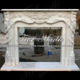 Camino bianco Mfp-100 di Carrara del camino di pietra di marmo del granito