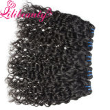 Grado natural peruano del pelo humano 7A del pelo de la onda de agua de la armadura al por mayor del pelo