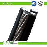 Assistere l'isolamento giallo del cavo 0.6/1kv XLPE/PE di ABC di colore di goccia fatto in Cina