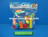 Brinquedos educacionais. O engraçado o mais popular, plástico caçoa o bloco de apartamentos dos brinquedos (414526)