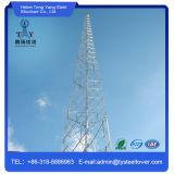 Riga torretta d'acciaio del tipo dell'antenna di a microonde di angolo per la telecomunicazione