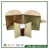 Caixa de relógio retro do cilindro com papel da especialidade