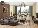 Sofa de cuir de couleur de Brown foncé, meubles réglables de maison d'appui-tête (M221)