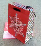 Bolsa de papel del regalo de la promoción de la Navidad para las compras