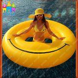 Het Glimlachen van de lucht de Zwemmende Vlotter van de Matten van het Gezicht van de Glimlach van Emoji van de Pool Smilely van de Pool Opblaasbare Drijvende