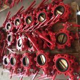 Válvula de borboleta Ductile da linha central do ferro (única haste)