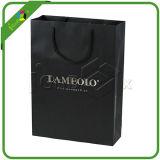習慣によってマットの印刷される黒い紙袋