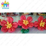 Decoração do estágio de Finego que Wedding a corrente de flor inflável da decoração inflável de Rosa